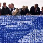 Willem-Alexander en Maxima bezoeken het Elfstedenmonument